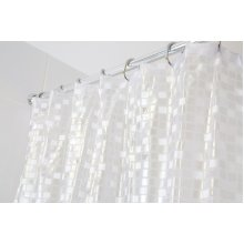 Croydex Silver Mosaic Fully Waterproof PVC Shower Curtain
