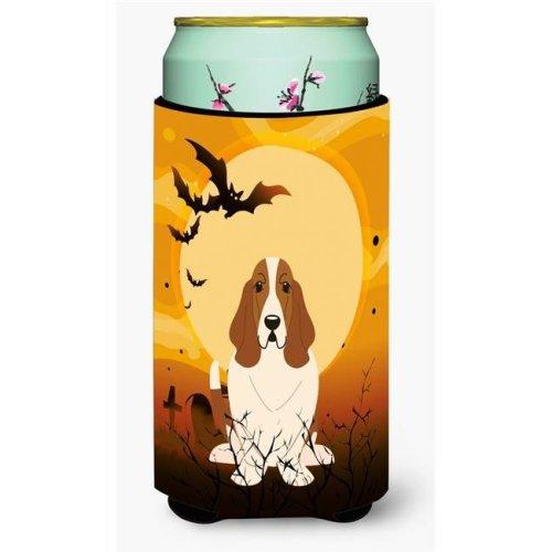 Halloween Basset Hound Tall Boy Beverage Insulator Hugger