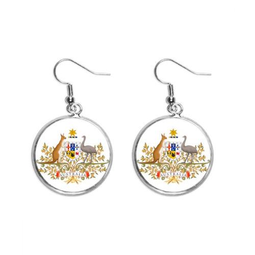 Canberra Australia National Emblem Ear Dangle Silver Drop Earring Jewelry Woman