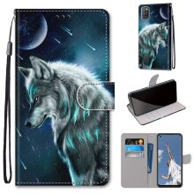 OPPO A52, A92, A72 Case Pattern Cover Folio with kickstand Wolf