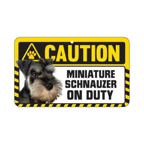 Miniature Schnauzer Caution Sign