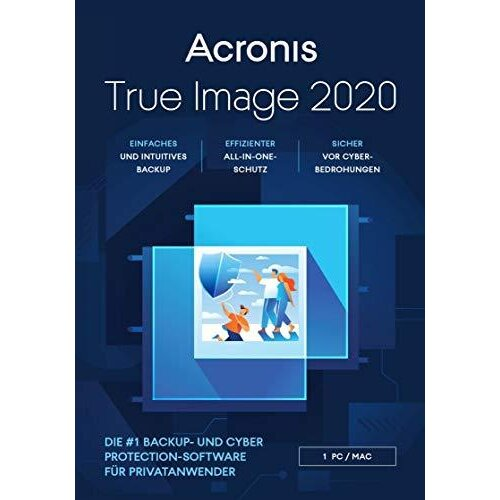 Acronis True Image 2020 Advanced Edition 250 GB Cloud Storage 1 Mac/PC (1 Year Subscription)