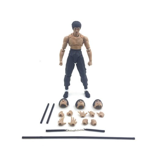 Bruce Lee Jeet Kune Do Figure Toy 2-Generation Face Changing