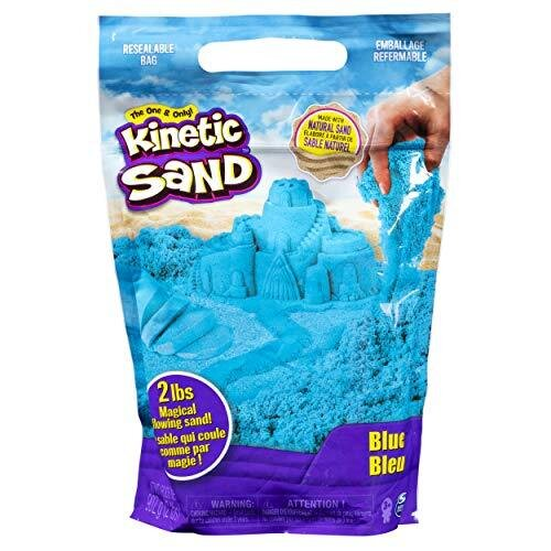 Kinetic Sand 6047183, 2lb Blue Mixing, Molding and Creating, for Ages 3 and Up, Various Colours