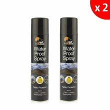2xWATERPROOF SPRAY FOR TENT CLOTH SHOES CAMPING FABRIC PROTECTOR 300ML