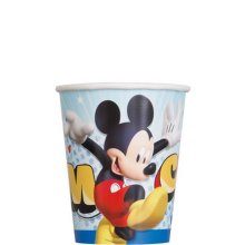 Mickey and the Roadster Racers 9 oz Paper Cups [8 Per Package]