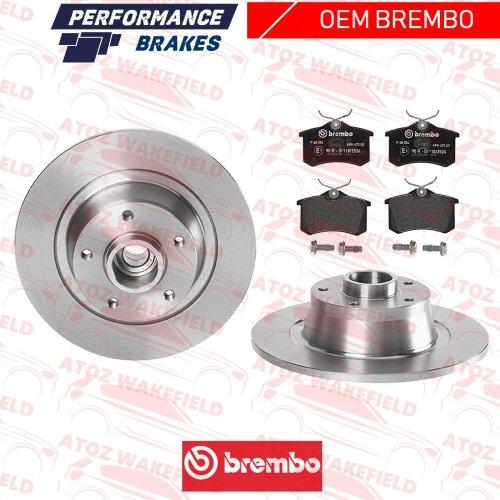 FOR MEGANE SPORT MK3 RS265 RS275 REAR BREMBO BRAKE DISCS PADS ABS BEARING SENSOR