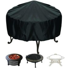 Large Patio Round BBQ Grill Cover Fire Pit Cover Waterproof Dust Protector 3 Sizes