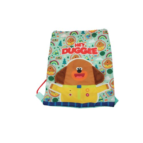 Hey Duggee Plush Ears Drawstring Sports Trainer Bag Green