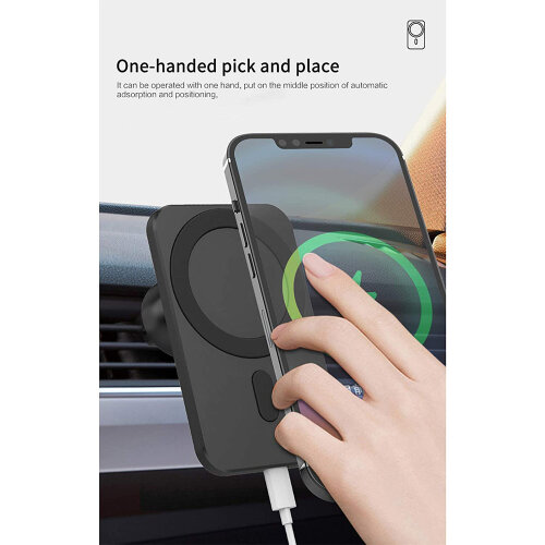 Car Wireless Magsafe Mount Charger for iPhone 12/12 Pro/12 Pro Max