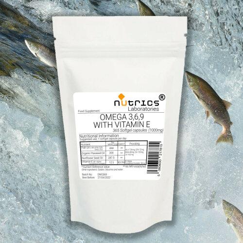 Nutrics® OMEGA 3 6 9 With VITAMIN E 1000mg