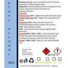Ethanol Ethyl - denatured Alcohol 96% 1L - 2L - 6L (1 Litre)