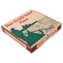 """Compostable Printed Pizza Boxes 9"""" (Pack of 100) - [GG997]"""