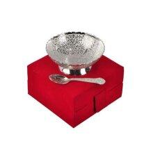 Wedding Gift Silver Plated Bowl, German Silver Bowl, Silver Bowl