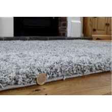 Abaseen Modern Large Grey For Living Room 5cm High Pile Thick Rug