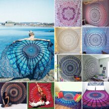 Peacock Feather Wall Hanging Tapestry Bohemian Bedspread Throw Blanket Decor