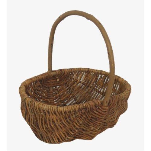 Small Rustic Wicker Shopping Basket