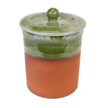 Terracotta Compost Caddy - Bramley Green Ceramic Bin for Food Waste