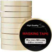 Pearl PMT01 19mm x 50m Masking Tape (Pack of 10)