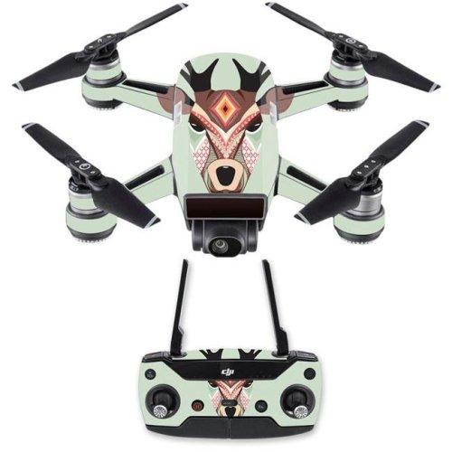 MightySkins DJSPCMB-Aztec Deer Skin Decal for DJI Spark Mini Drone Combo Sticker - Aztec Deer