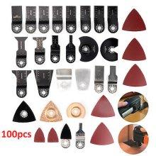 100 Multi Tool Oscillating Blades Cutting Wood Carbon Steel Cutter