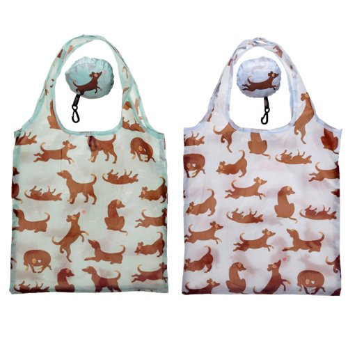Handy Fold Up Catch Patch Dog Shopping Bag with Holder