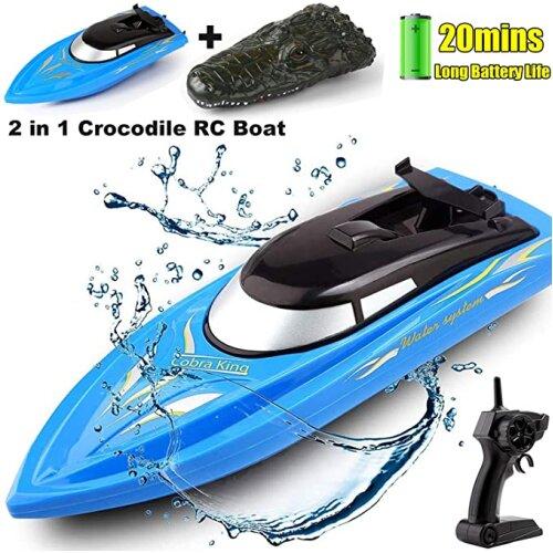 Remote Control Racing Boats 10km/H 2.4G Simulation Crocodile Head