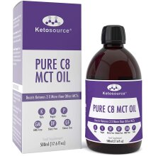 Premium Pure C8 MCT Oil   Boosts Ketones 3X More Than Other MCTs