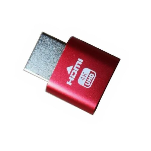 (Red, HDMI adapter) Hdmi Dummy Emulator Adapter For Bitcoin Mining
