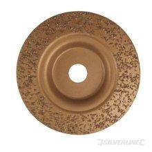 Silverline Tungsten Carbide Grinding Disc 115 x 22.2mm -  tungsten carbide grinding disc x silverline 222mm 115 302067 concrete