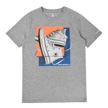 Converse Sneaker Squares Junior T-Shirt Shirt Tee Grey