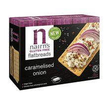 Nairns Gluten Free Caramelised Onion Flatbreads 150g (Pack of 6)