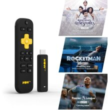 Now TV Stick With 1 Month Cinema Entertainment & Day Sports Pass Black