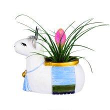Resin Alpaca Succulent Plant Pot, Pen Holder