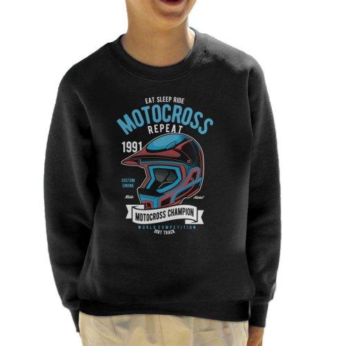 Motocross Champion Helmet Kid's Sweatshirt