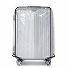 "Transparent Suitcase Travel Cover - Pvc Luggage Protector - 22"" Bag"