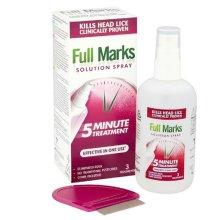 Full Marks Solution Spray 150ml & Comb - 3 Treatments