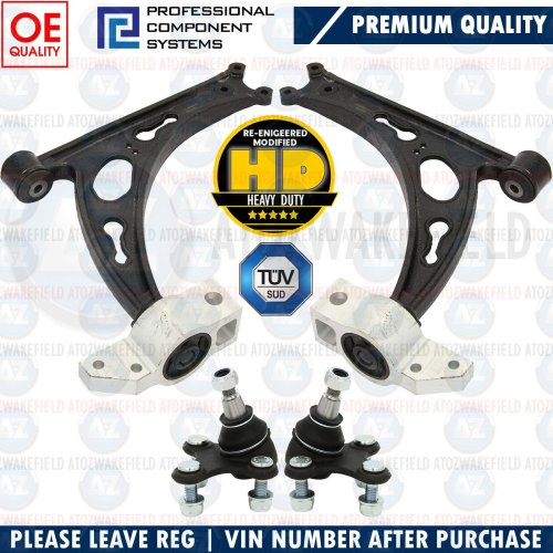 FOR AUDI RS3 FRONT LOWER LEFT RIGHT SUSPENSION WISHBONE CONTROL ARMS BALL JOINTS