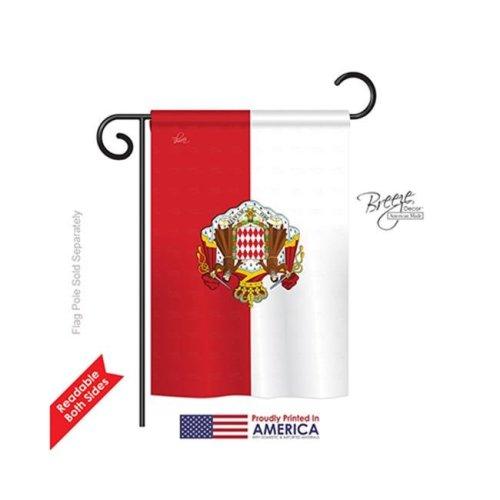Breeze Decor 58322 Monaco 2-Sided Impression Garden Flag - 13 x 18.5 in.