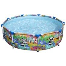 Bestway Steel Pro MAX Swimming Pool Outdoor Garden Backyard Summer Frame Pool