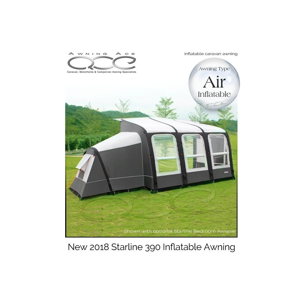 (390cm, With Bedroom Annex) Camptech Starline Air ...