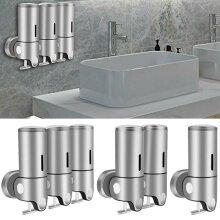 Wall Mounted Shower Soap Shampoo Gel Dispenser Bottles Washing Bathroom Pumps