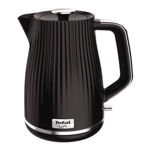 TEFAL Loft KO250840 Rapid Boil Traditional Kettle - Piano Black, Black