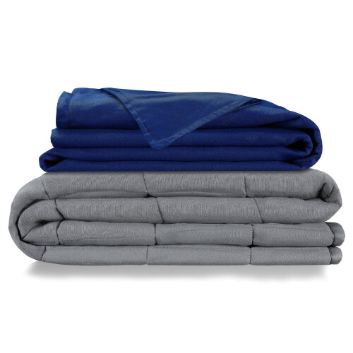 (7.7kg (for 55 - 70kg)) Weighted Blanket with 100% Cotton Cover