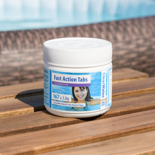 Clearwater Fast Action Tabs - Instant chlorine tablets for pools & spa