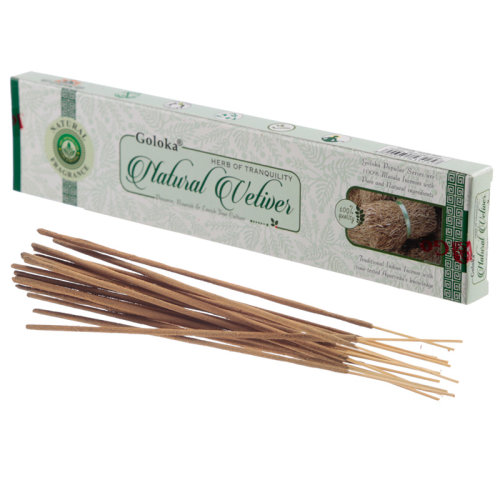 Goloka Incense Sticks - Natural Vetiver - Set of 12