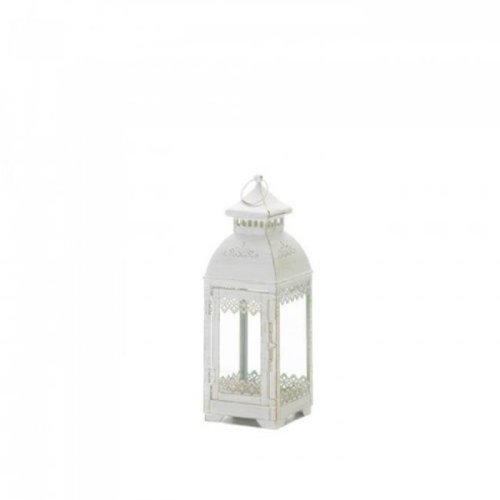 Gallery of Light 10018612 Lace Victorian Style Lantern, White