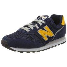 New Balance Men's 373v2 M Trainers, Blue (Navy/Yellow Aa), 4.5 UK 37.5 EU