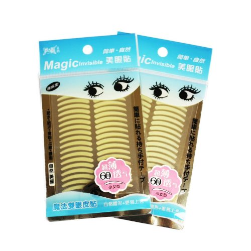 "MAGIC Invisible ""pretty size"" (M) - Eyelid Lifting without Surgery [2x60pairs] Double Pack"
