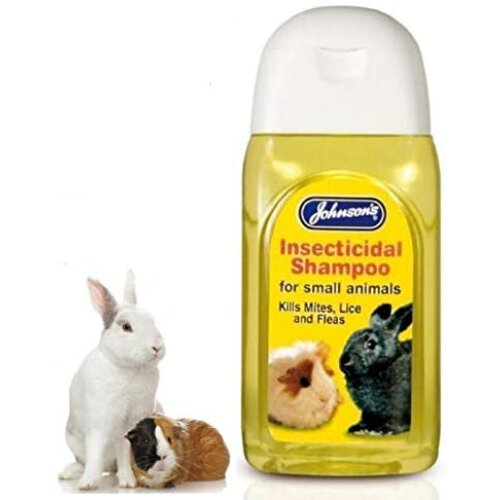 Johnson's Insecticidal Rabbit Ferret Guinea Pig Shampoo Kills Mites Lice Fleas 125ml